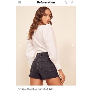 NWT Reformation Dixie Shorts Size 29 Color Pacific